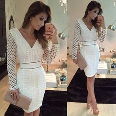 Image may contain: 2 people Elegant Dresses, Sexy Dresses, Cute Dresses, Beautiful Dresses, Dress Outfits, Casual Dresses, Short Dresses, Fashion Dresses, Formal Dresses