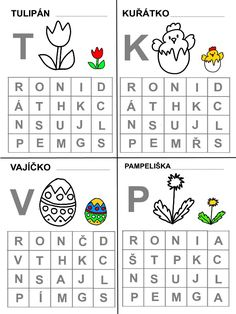 Pro Šíšu: Pracovní listy ČTEME PÍŠEME Easter Activities For Kids, Montessori, Worksheets, Preschool, Jar, Teaching, Writing, Education, Crafts