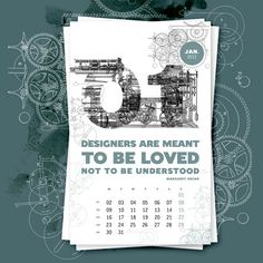 57 Creative 2012 Calendar Designs for Your Inspiration | UPrinting ...