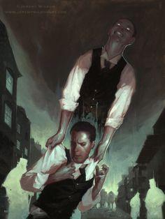 Jeremy Wilson Art The Strange Case of Dr. Jekyll and Mr. Digital Art Fantasy, Fantasy Art, Steampunk, Jekyll And Mr Hyde, Wilson Art, A Level Art, Creature Feature, Horror Art, Gothic Horror