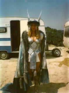 Sandahl Bergman costumed as Valeria from Conan the Barbarian starring Arnold Schwarzenegger. Conan The Barbarian 1982, Barbarian Movie, Sandahl Bergman, Conan Der Barbar, Conan The Destroyer, Conan Movie, Warrior Outfit, Sword And Sorcery, Red Sonja