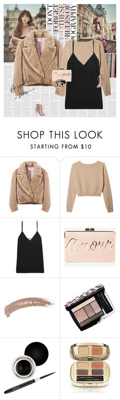 """""""Sweet Lies"""" by e-laysian ❤ liked on Polyvore featuring Organic by John Patrick, Equipment, BCBGMAXAZRIA, Topshop, Lancôme, Nouba, Dolce&Gabbana and Charlotte Russe"""