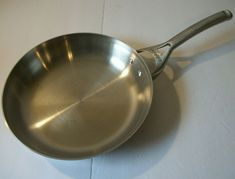 """Calphalon #1390 10"""" Inch Stainless Steel Fry Pan Skillet With Stainless Handle #Calphalon Calphalon Cookware, Skillet, Fries, Handle, Stainless Steel, Door Knob"""