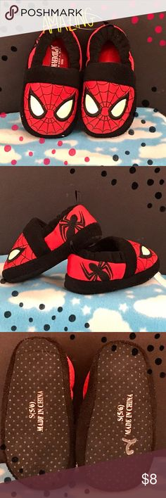 Amazing SpiderMan Slippers Size Small Adorable hardly worn Amazing  SpiderMan Slippers Toddler Size Small  Pre-owned - Great Condition:  No holes or rips. Smoke-Free / Pet Friendly home.   Thank you for browsing my closet and have a good day!❤  *****************************************************  bundle & save  offers welcome  fast shipping Spiderman Shoes Slippers