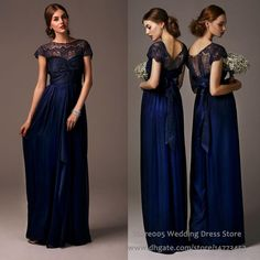 2016 Lace Chiffon Navy Blue Bridesmaid Dresses For Maid Of Honor Cap Sleeve Long Wedding Guest Dress B2212 Cap Sleeve Bridesmaid Dresses Champagne Bridesmaid Dresses Uk From Store005, $109.55  Dhgate.Com