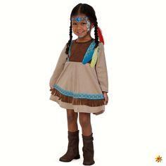 Indianer Kostüm, Kleid für Mädchen
