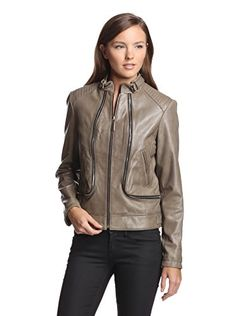 Vince camuto leather jacket womens