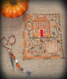 "BBD ""Pumpkin Farm"" Finished Jan, 2013 by Shirl Bennett-Mays Cross Stitch"