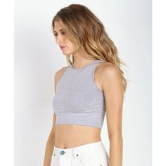 Free People High Neck Seamless Crop Top NWT. Great for this summer and paired with skirts or high waisted jeans Free People Tops Crop Tops