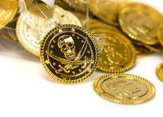 144 Goldmünzen Piraten Party Schatz Schatzsuche Kindergeburtstag Mitgebsel