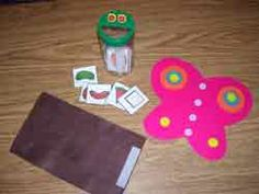 Parmesan Cheese Container Story for the Very Hungry Caterpillar...we're going to be doing this in storytime.