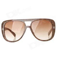 bb8915eb0c YIDUN 28013-C1 Fashion UV400 Protection Big Frame Sunglasses for Women    Brown + Black