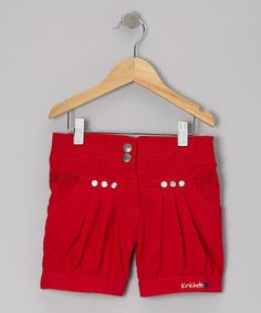 Red Pearl of the Sea Shorts - Girls