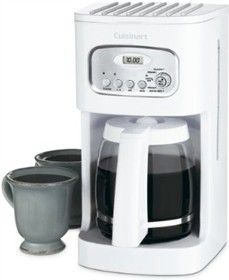 Cuisinart 12-Cup Programmable Coffeemaker has a classic design with stainless-steel accents, brews up to 12 cups of coffee at a time and offers 24-hour programming ability.