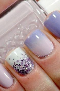 Lavender nails--each nail a different technique
