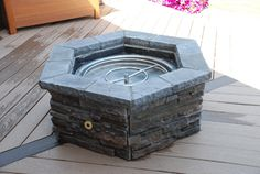 Do It Yourself Fire Pit. Natural gas or propane. All done, just pour in the fire glass. An pour a cold one...