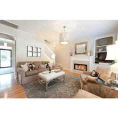 Furniture Awesome Living Room With Tan Couch Ideas Grey Floral Rug Luxury Hanging Lamp Cream Sofa Calmness Livi