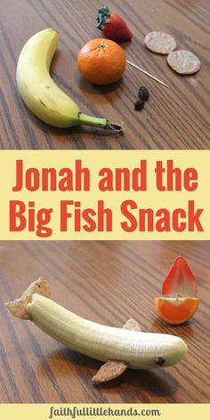 Create a teachable moment with this Jonah and the Big Fish Snack #Jonah #GodsRelentlessGrace