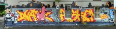 Street art mural by Dabs Myla Askem & Dvate