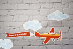 Airplanes & Clouds Birthday Party Ideas | Photo 2 of 10 | Catch My Party