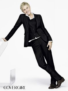 COVERGIRL Ellen DeGeneres is wearing COVERGIRL + Olay Simply Ageless Foundation, Concealer, and Sculpting Blush. http://www.covergirl.com/collections/simplyageless