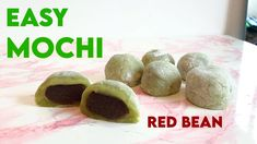 Red Bean Mochi Recipe, Apple Crisp Bars Recipe, How To Make Matcha, Glutinous Rice Flour, Mooncake, Red Beans, Rice Recipes, Make It Simple, Sweets