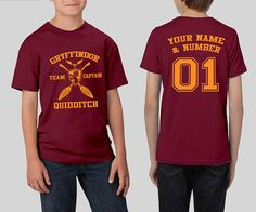HARRY POTTER MALFOY QUIDDITCH Kids Front Print Tee Shirt SM-XL BOYS SZ 6-20