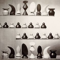 Max Ernst Wood Chess Set 1945