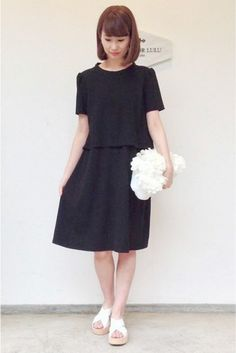 ◆Camille for LULU VIICTORYクレープレイヤード ドレス