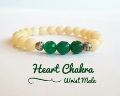 Mala Heart Chakra bracelets for love, compassion and more... Feel the comforting properties of the chakra stones while wearing the mala bead bracelets