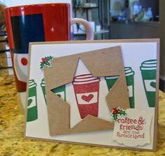 My Coffee Blog Hop Card for Christmas www.crazystampinglady.blogspot.com Maureen Rauchfuss - love this card