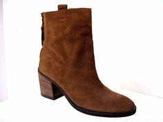 SAM EDELMAN Brown Suede FARRELL Back Zip Ankle Boots Size 7 M #SamEdelman #AnkleBoots