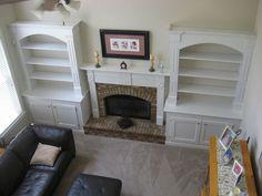 I added built in bookshelves around fireplace in living room *Options… :: Hometalk