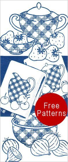 I have a thing for days of the week dish towels. Yet another set of patterns. Thank you tip-nut.