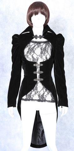 photo n°5 : Veste gothique romantique femme en queue de pie