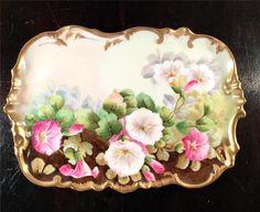 OUTSTANDING Antique DRESSER TRAY T&V Limoges France Hand Painted ARTIST SIGNED