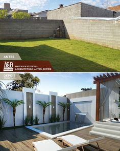 55 attractive backyard swimming pool designs ideas for your small backyard 7 Small Backyard Pools, Small Pools, Backyard Patio Designs, Swimming Pools Backyard, Swimming Pool Designs, Kleiner Pool Design, Small Pool Design, Exterior Makeover, Home Landscaping