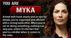 Warehouse 13 - Personality Quiz Result. I totally see a lot of myself in her :)