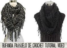 Bufanda Scarf sin cerrar tutorial - Patrones Crochet