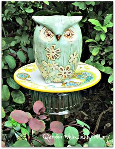 owl photo from fbook page Garden Whimsies by Mary