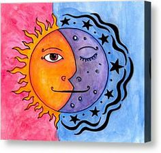Sun And Moon Painting by Jessica Kauffman - Sun And Moon Fine Art Prints and Posters for Sale