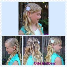 5 strand waterfallbraid with curls and mini lacebraid in the front