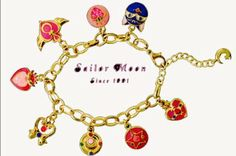 Amazon.com: Sailor Moon Pendant Bracelet Gold All Linked with One Another Cosplay: Toys & Games