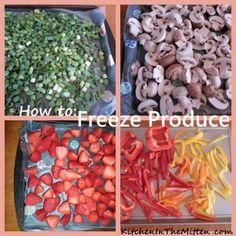 How to freeze produce - because veggies are just too darn good to go to waste. EVER.