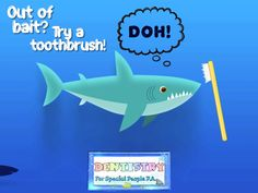 🦈Out of bait?👀Try a toothbrush!👍Given the amount of teeth sharks have, they can never have too many toothbrushes!🤣#SharkWeek2020 #Sharkweek #GotTeeth #sharkteeth #pediatricdentist #pediatricdentistry #kidsdentist #kidsdentistry #dentist Kids Dentist, Pediatric Dentist, Shark Week, Sharks, Bait, Dentistry, Teeth, Children, Young Children