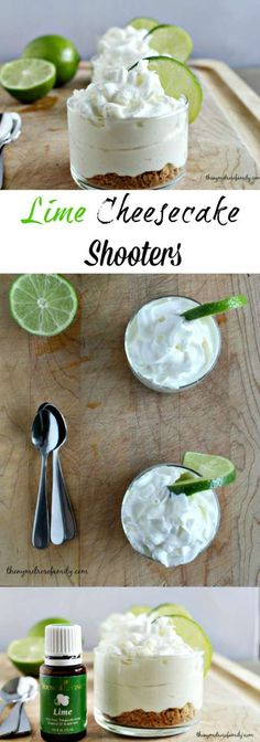 Our Lime Cheesecake Shooters are the perfect no-bake dessert that is individual sized.