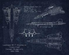 Sr 71 blackbird general arrangement blueprint art pinterest blackbird airplane blueprint art by scarletblvd on etsy malvernweather Choice Image