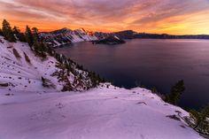 Crater Lake Sunrise by ljkamler on 500px