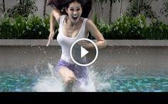 Camminare sull'acqua? Si può fare! Questa bella ragazza ci mostra come una persona normale può camminare sull'acqua. Dopo il primo tentativo fallito, un nuovo ritrovato della scienza ci mostrerà come, solo affrettando la frequenza dei #video #divertimento #ragazza