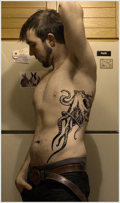 30 Unique Octopus Tattoo Designs: Cute Octopus Tattoo Design For Men ~ Cvcaz Tattoo Art Ideas ~ Tattoo Design Inspiration